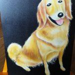 犬も描いているんです