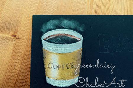 テイクアウトコーヒーを描く