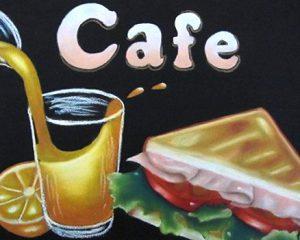 カフェ(サンドイッチ):297mm×210mm(A4) トーストサンドイッチは、出来る限りリアルな感じを出してみました。