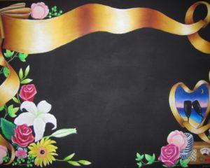 wedding文字なし+リボン:リボンの色を変えるだけで雰囲気がガラリと変わります。文字はお好きな字体・レイアウトで!