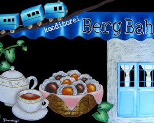 ケーキ屋「Berg Bahn」様:神戸で人気のケーキ屋さん。周年記念のプレゼントとしてオーダーいただきました。