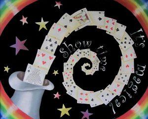 magical show time:2010年 CAA日本チョークアーティスト協会グループ展出展作品 テーマは「Magical」。 マジックショーの看板をイメージしました。