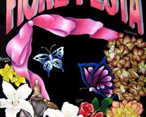 Fiore festa:2012年 銀座伊東屋展示会出展作品 テーマは「チョークアートフェスタ」 フィオーレフェスタとは、イタリア語で花のお祭りという意味。花があふれる作品にしました。