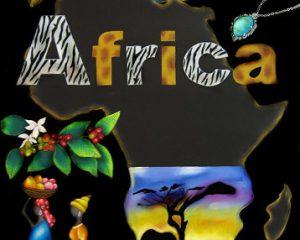 Africa:2013年 CAA日本チョークアーティスト協会グループ展 出展作品 アフリカの大地、デザインをイメージしました。