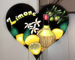 Limone:2013年CAA日本チョークアーティスト協会グループ展 ハート型ボード出展作品